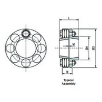 MCT-105 Complete Coupling Taper Bore