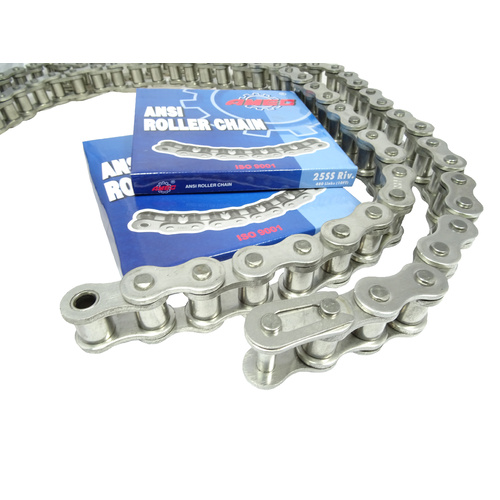 16B-1SS Roller Chain Stainless Steel per FT Pack Size 10FT - SS304